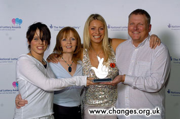 Alex Parks  Tess Daly National Lottery